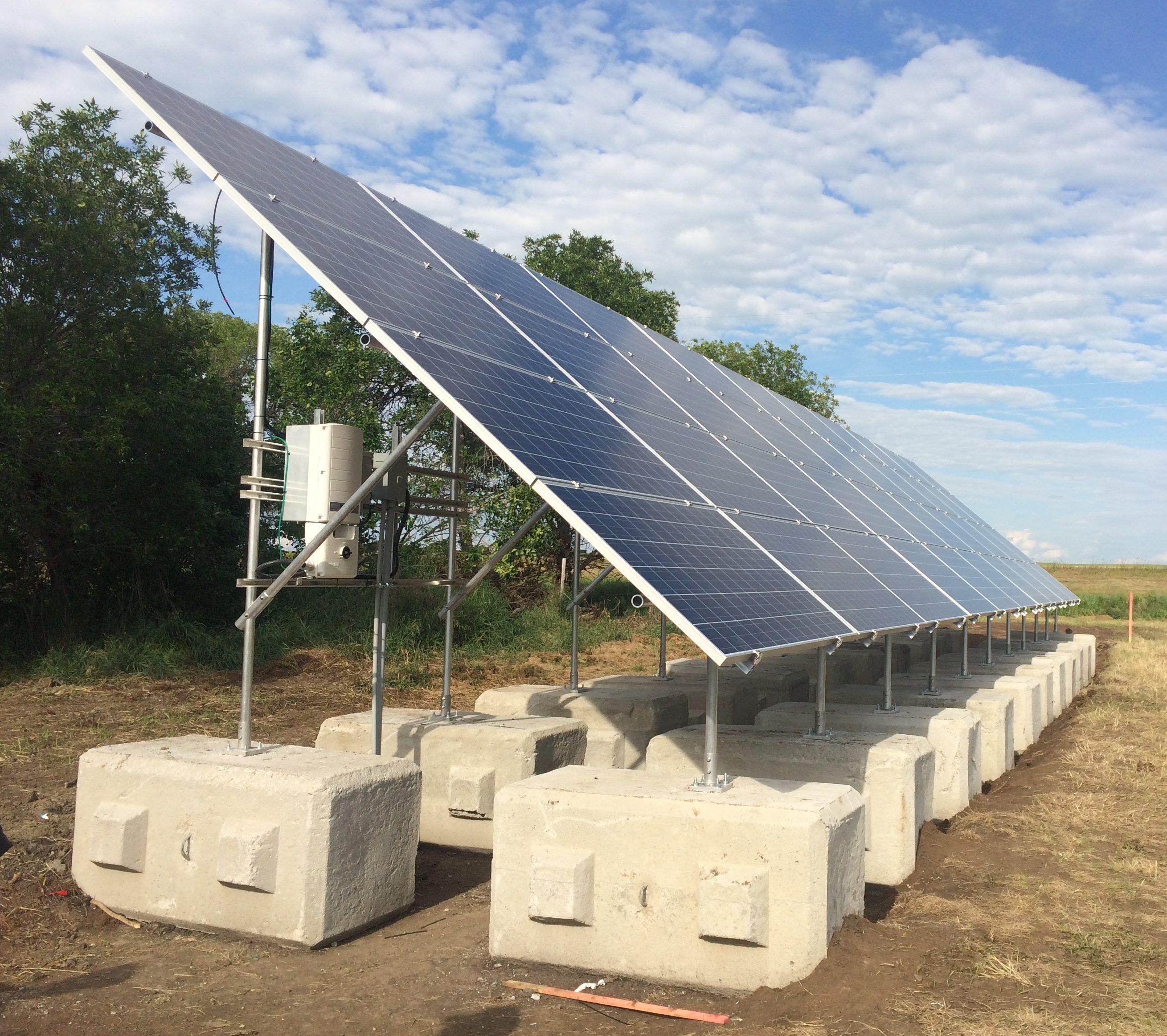 Ground Mounts Kinetic Solar Racking And Mounting