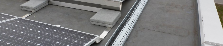 Ballasted Flat Roof System South Oriented Kinetic Solar
