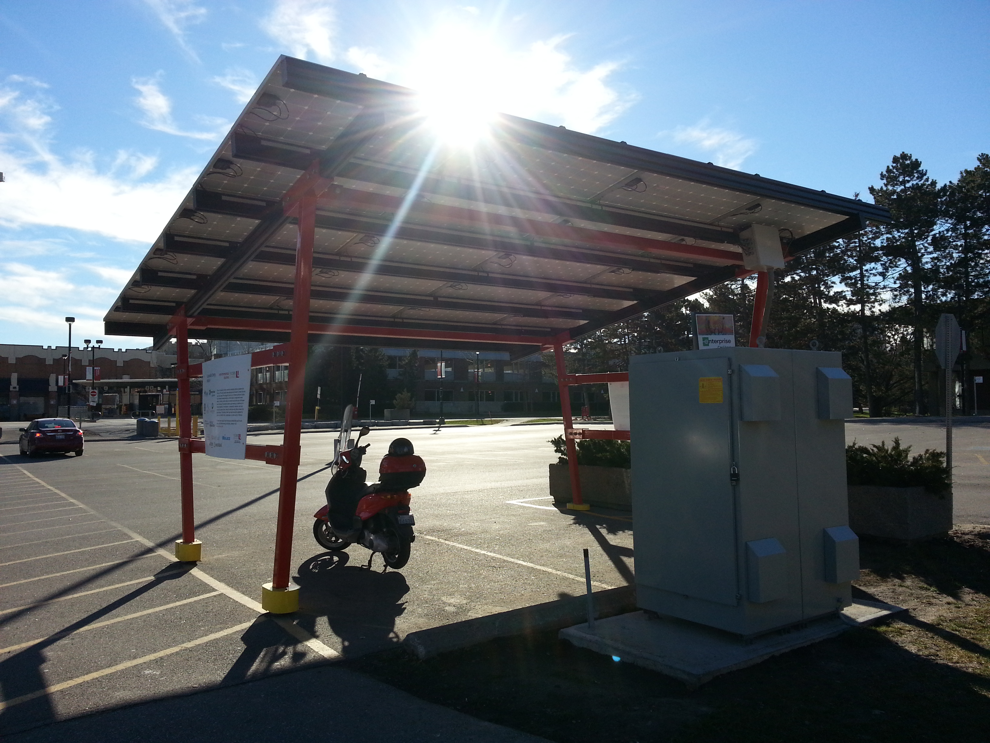 EV Car Charging Station at York University, MFG by Kinetic